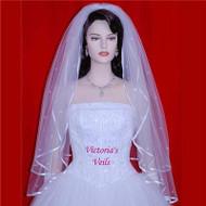 "BRIDAL WEDDING VEIL SWAROVSKI RHINESTONES 30""x35"" 12R2"