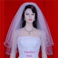"WEDDING BRIDAL ELBOW VEIL 24""x28""  10-3"