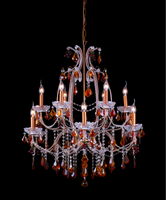 129-12 Light Multi-Colored Crystal Chandelier