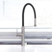 Blix Flexible Hose Sink Mixer - Brushed Nickel