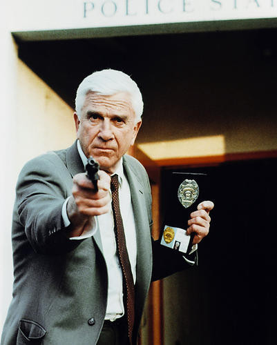 This is an image of 213082 Leslie Nielsen Photograph & Poster