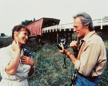 This is an image of 215293 Clint Eastwood & Meryl Streep Photograph & Poster