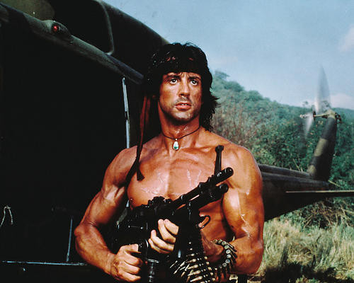 This is an image of 223711 Sylvester Stallone Photograph & Poster