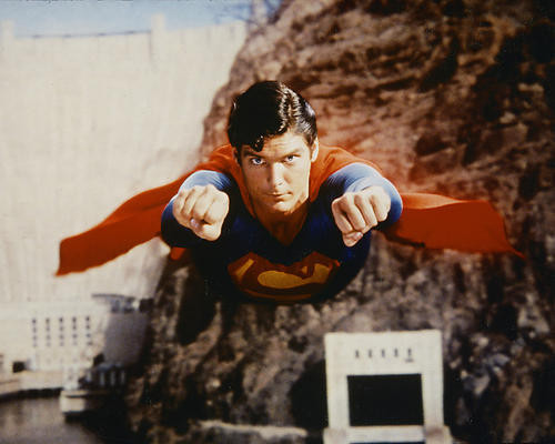 This is an image of 247891 Christopher Reeve Photograph & Poster