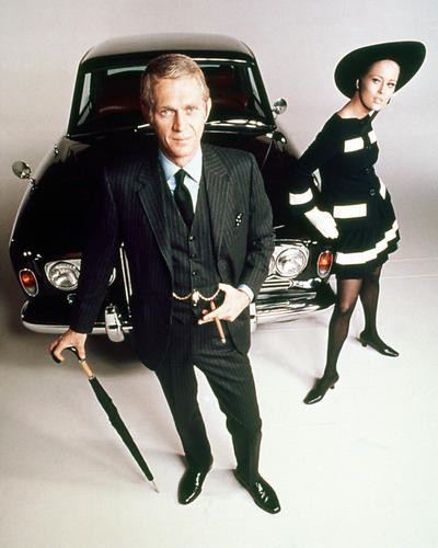 This is an image of 250330 Steve McQueen & Faye Dunaway Photograph & Poster