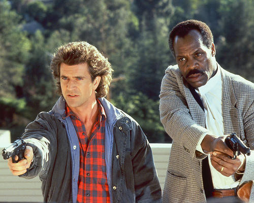 This is an image of 254446 Mel Gibson & Danny Glover Photograph & Poster