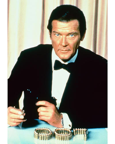 This is an image of 267022 Roger Moore Photograph & Poster