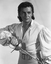 This is an image of 180338 Cornel Wilde Photograph & Poster
