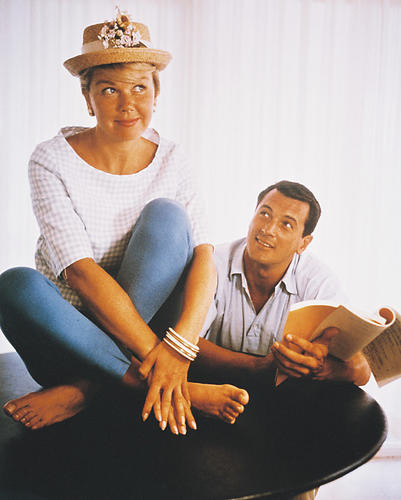 This is an image of 214094 Rock Hudson & Doris Day Photograph & Poster