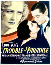 This is an image of Vintage Reproduction of Trouble in Paradise 296977