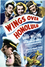 This is an image of Vintage Reproduction of Wings over Honolulu 297054