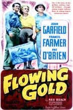 This is an image of Vintage Reproduction of Flowing Gold 296949