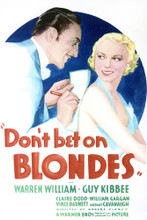 This is an image of Vintage Reproduction of Don't Bet on Blondes 297072