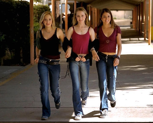 This is an image of 280747 Evan Rachel Wood as Tracy Louise Freeland and Nikki Reed as Evie Zamora in Thirteen