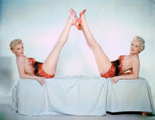 This is an image of 240455 Betty Grable & Sheree North Photograph & Poster