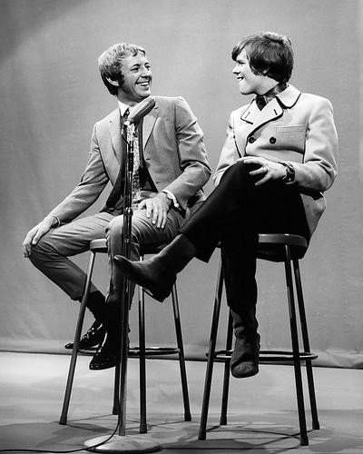 This is an image of 192279 Peter Noone and Noel Harrison Photograph & Poster