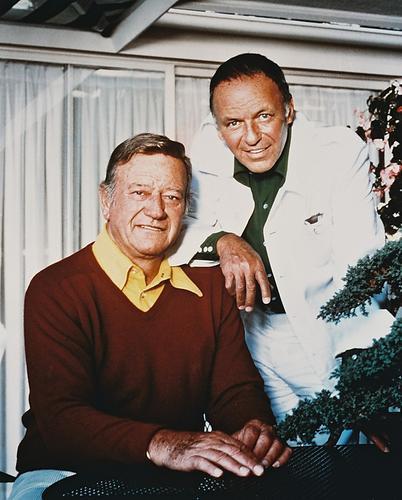 This is an image of 214206 John Wayne & Frank Sinatra Photograph & Poster