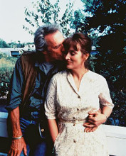 This is an image of 215291 Clint Eastwood & Meryl Streep Photograph & Poster