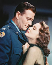This is an image of 226809 John Wayne & Janet Leigh Photograph & Poster