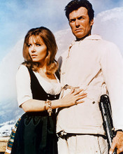 This is an image of 228997 Clint Eastwood & Ingrid Pitt Photograph & Poster