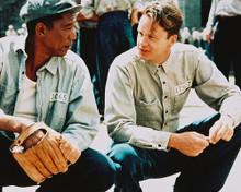 This is an image of 241259 Morgan Freeman & Tim Robbins Photograph & Poster