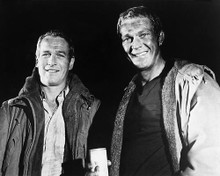 This is an image of 171674 Steve McQueen & Paul Newman Photograph & Poster