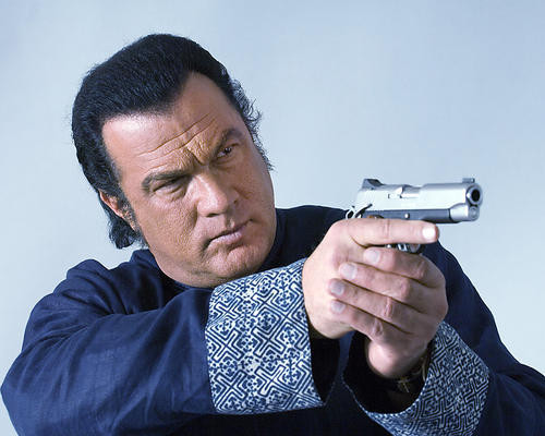 This is an image of 275566 Steven Seagal Photograph & Poster