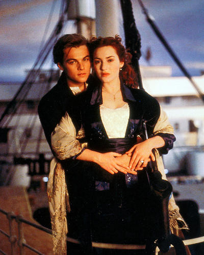 This is an image of 227830 Leonardo Dicaprio & Kate Winslet Photograph & Poster