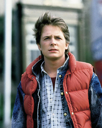 This is an image of 283039 Michael J.Fox Photograph & Poster