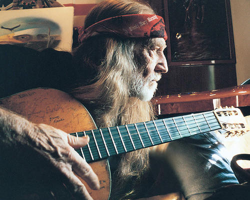 This is an image of 283063 Willie Nelson Photograph & Poster