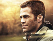 This is an image of 283098 Chris Pine Photograph & Poster
