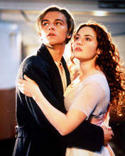This is an image of 228545 Leonardo Dicaprio & Kate Winslet Photograph & Poster