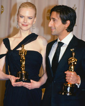 This is an image of 254912 Adrien Brody and Nicole Kidman Photograph & Poster