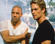 This is an image of 247718 Vin Diesel & Paul Walker Photograph & Poster