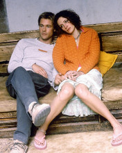 This is an image of 252876 Brad Pitt and Julia Roberts Photograph & Poster