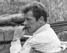 This is an image of 179884 Roger Moore Photograph & Poster