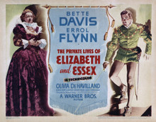 This is an image of Vintage Reproduction Lobby Card of The Private Lives of Elizabeth and Essex 295013