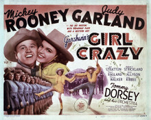 This is an image of Vintage Reproduction Lobby Card of Girl Crazy 295022