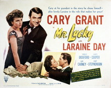 This is an image of Vintage Reproduction Lobby Card of Mr. Lucky 295047