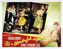 This is an image of Vintage Reproduction Lobby Card of Its a Wonderful Life 295257