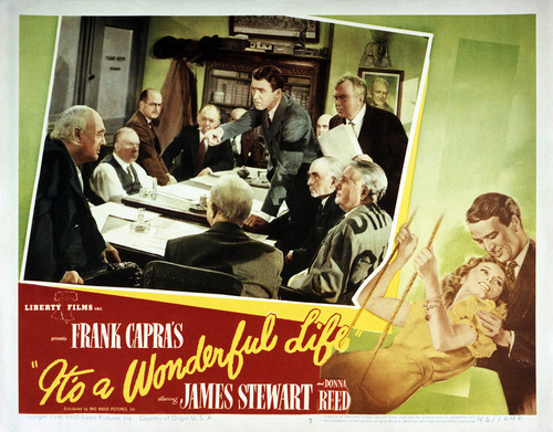 This is an image of Vintage Reproduction Lobby Card of Its a Wonderful Life 295260