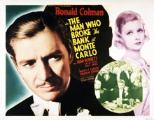 This is an image of Vintage Reproduction Lobby Card of The Man Who Broke the Bank of Monte Carlo 295263