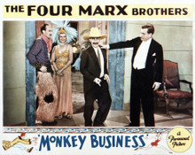 This is an image of Vintage Reproduction Lobby Card of Monkey Business 295276