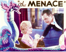 This is an image of Vintage Reproduction Lobby Card of Menace 296216