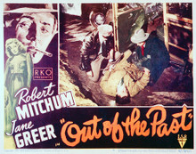 This is an image of Vintage Reproduction Lobby Card of Out of the Past 296220