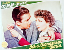 This is an image of Vintage Reproduction Lobby Card of Its a Wonderful World 296221