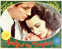 This is an image of Vintage Reproduction Lobby Card of Lady of the Tropics 296233