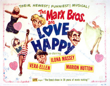 This is an image of Vintage Reproduction Lobby Card of Love Happy 296238
