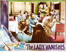 This is an image of Vintage Reproduction Lobby Card of The Lady Vanishes 296250