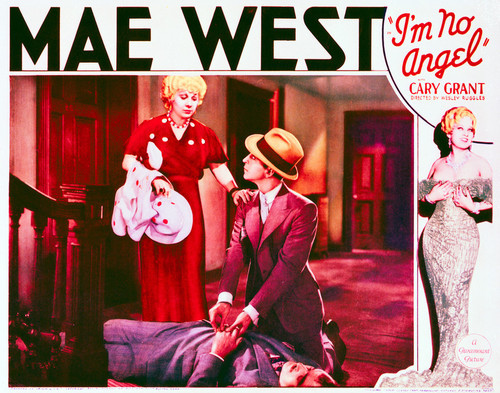 This is an image of Vintage Reproduction Lobby Card of I'm No Angel 296251